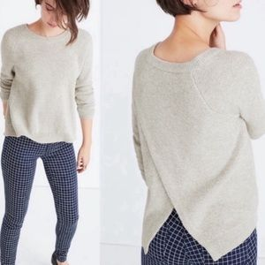 Madewell Province Cross Back Knit Pullover Size S